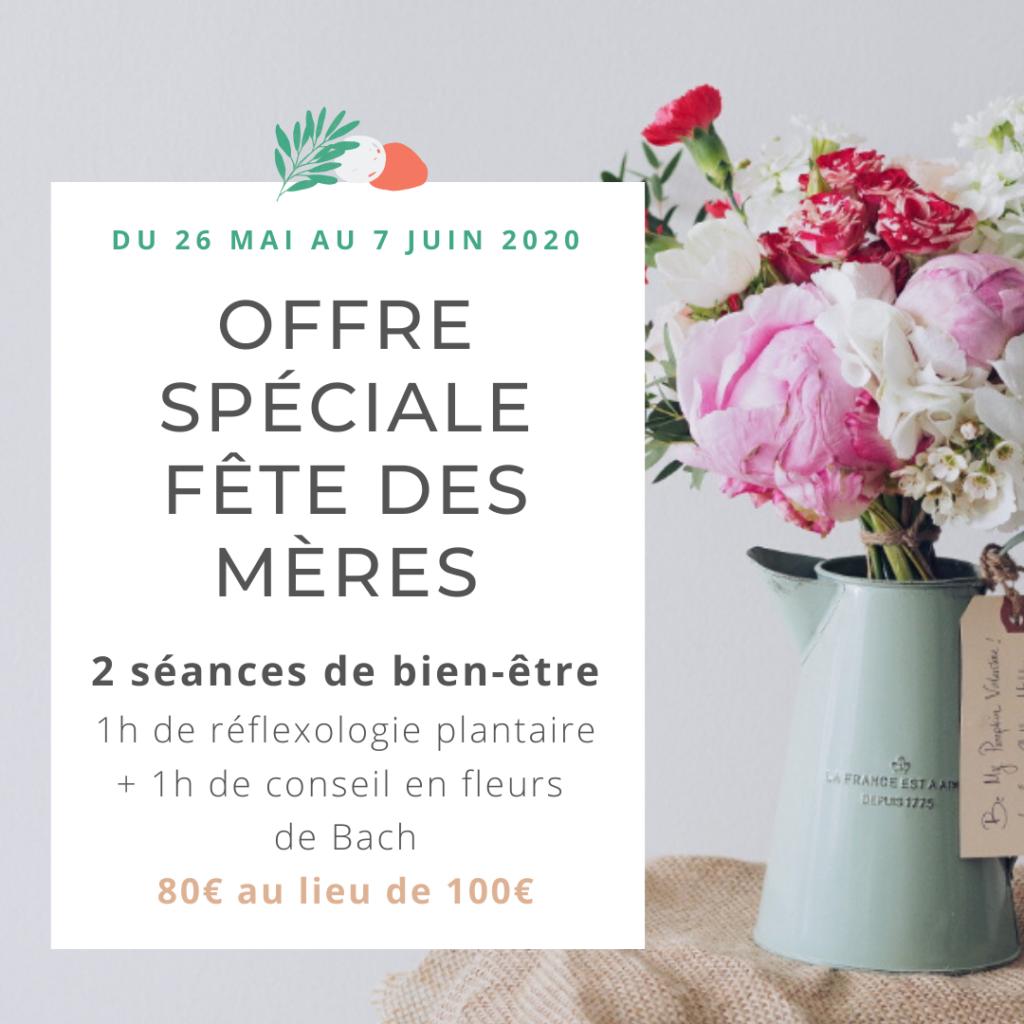 offre fête des Mères, Elisabeth Lacoste, naturopathe Toulouse, réflexoogie, Fleurs de Bach